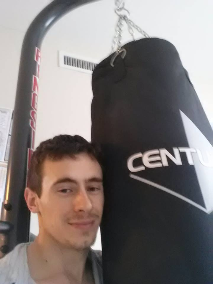 Alex and his heavy bag