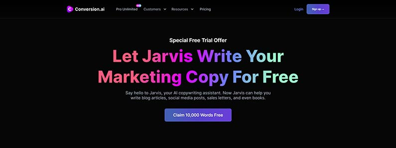 Claim your 10,000 word free trial of Conversion.ai
