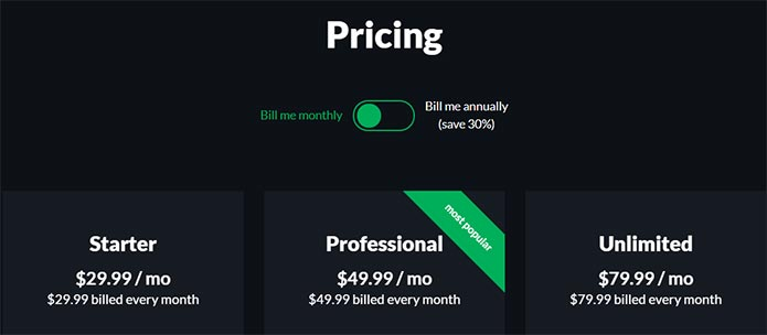 ClosersCopy monthly pricing