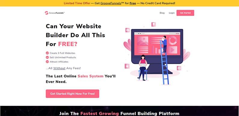 GrooveFunnels best free funnel builder software platform