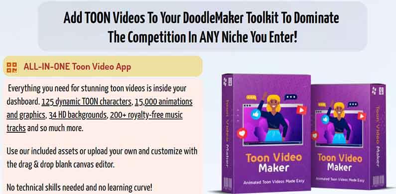 Toon Video Maker Upsell