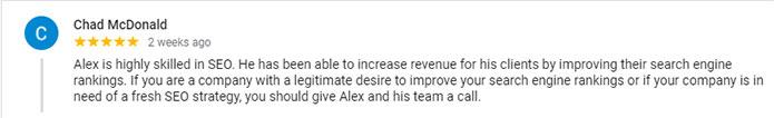 alex tucker review chad mcdonald gmb