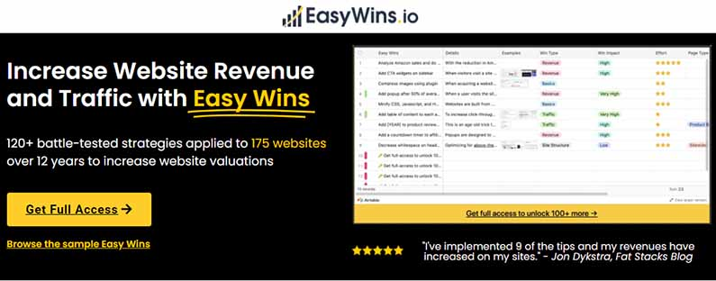 easywins.io review increase website revenues