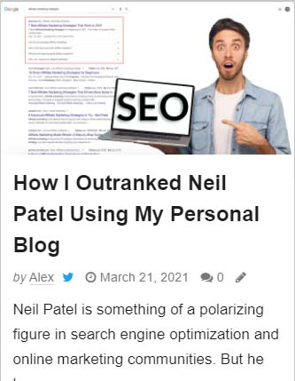 how i outranked neil patel post