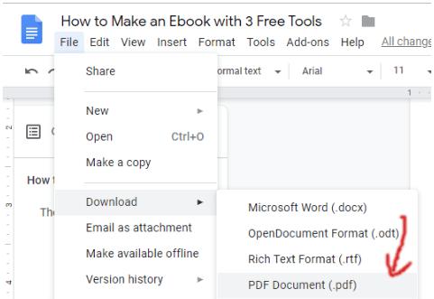 how to make a pdf free