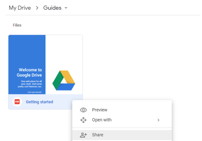 how to share from google drive