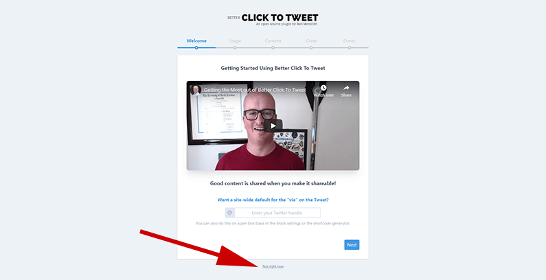 how to use better click to tweet