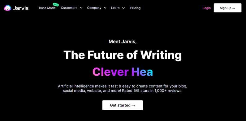 jarvis ai homepage