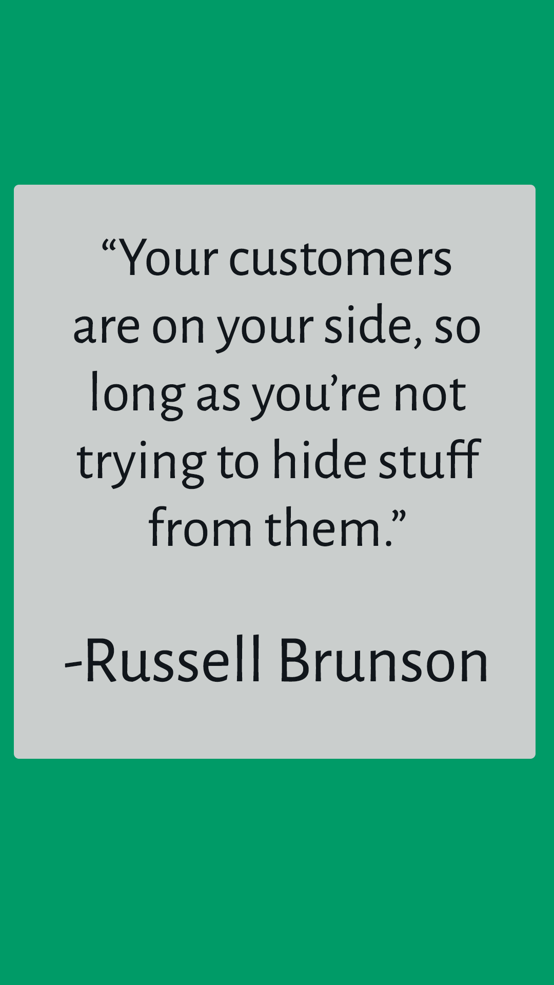 russell brunson quote pin