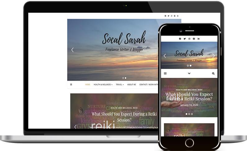 socal sarah's writer website