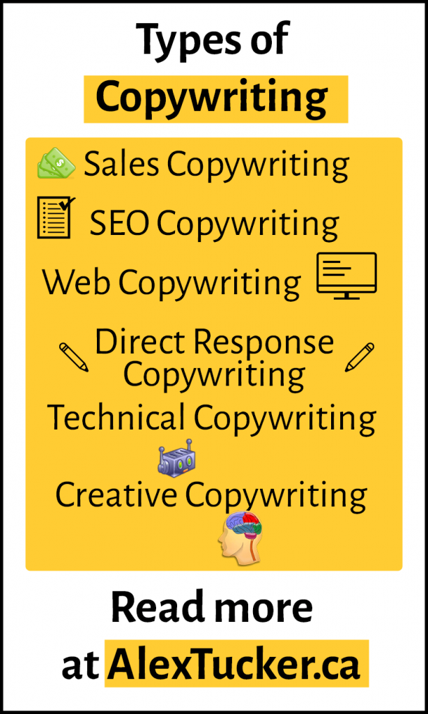 types of copywriting infographic